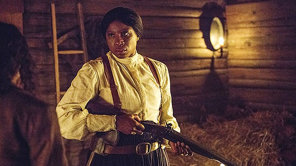 "Actor Aisha Hinds talks about playing American icon Harriet Tubman on ""Underground,"" a docudrama about the Underground railroad and her ..."