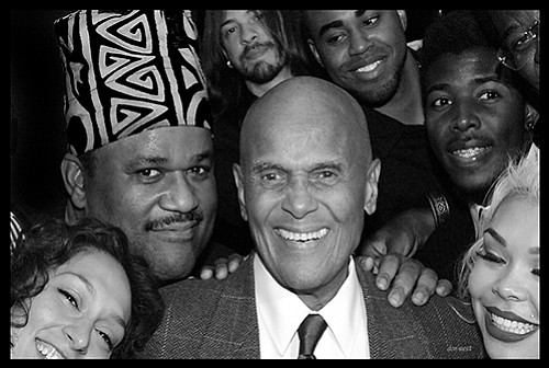 """A portraits of Harry Belafonte with Boston singer Larry Watson is part of the """"Portraits of Purpose"""" exhibit."""