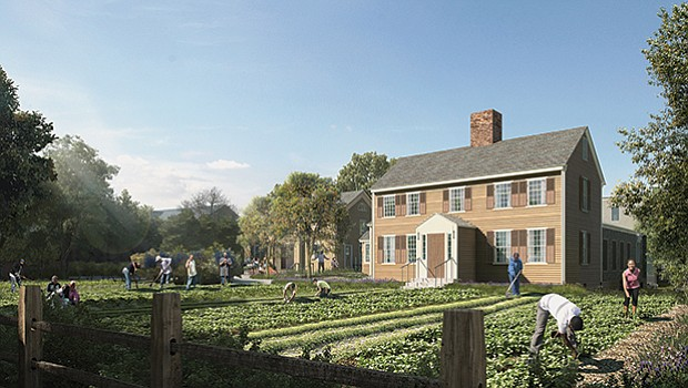 The farmhouse will serve as headquarters of the Urban Farming Institute.