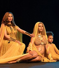 Beyonce, Mrs.Tina Knowles (her mother) and Blue Ivy exude #BlackGirlMagic