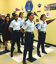 "The Tucker High Air Force JROTC received the Exceeds Standards ranking, also known as ""a distinguished unit with merit."""