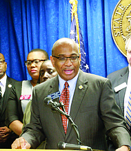 "State Senator Lester Jackson introduced Senate Bill 119, called the ""Georgia Civil Rights Bill,"" that prevents discrimination in public places, housing and the workplace on Feb. 13, 2017."