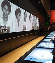 An exhibit inside of the National Museum of African-American History and Culture