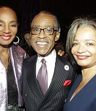 Susan Taylor, Rev. Al Sharpton, and Janelle Procope, the president and CEO of the Apollo Theater.