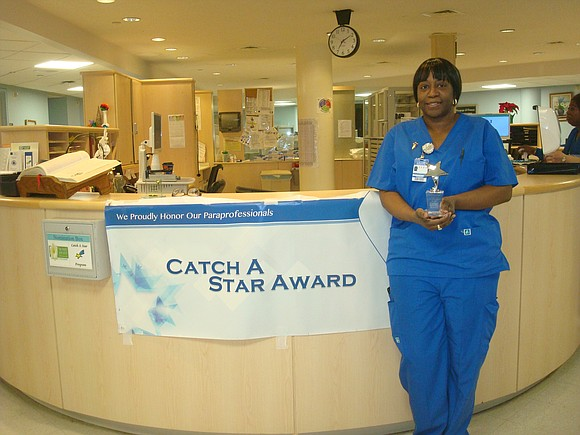"Calvary Hospital recently honored Stephanie Perkins-Veitch, CCT-II, with the ""Catch A Star"" Award for December 2016."