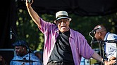 Singer Al Jarreau reacts to an appreciative audience at the 2016 Richmond Jazz Festival last August.