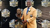 Charles Haley during NFL Hall of Fame induction ceremonies.