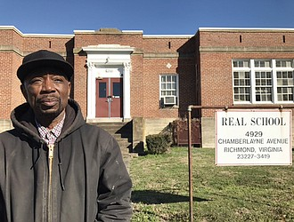 Kenneth Williams, CEO of Adult Alternative Program, plans to use students and young adults to renovate the vacant REAL School building at 4929 Chamberlayne Ave. under a lease agreement with Richmond Public Schools.