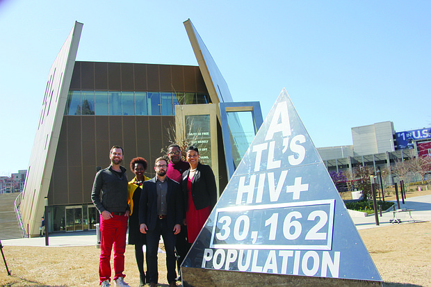 Numbers on the HIV clock, unveiled Feb. 14 at the Center for Civil and Human Rights, will be updated each Friday through June 27 for new cases.