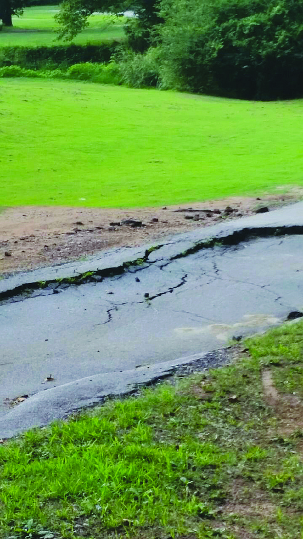 Broken pavement on the cart path, bare spots and uneven grass are frequent sights at Sugar Creek, once considered one of the most beloved golf courses in South DeKalb.