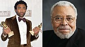 (left) Donald Glover, (right) James Earl Jones
