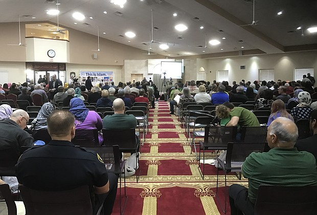 Hundreds attended an open house event at the Masjid Al-Jumu'ah in Bolingbrook hosted by the Muslim Association of Bolingbrook to learn about Islam.