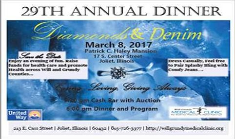 The Will-Grundy Medical Clinic will host it's 29th annual fundraiser dinner on March 8 at the Patrick C. Haley Mansion ...