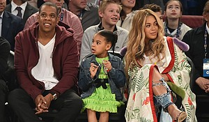 Jay-Z, Blue Ivy, and Beyonce