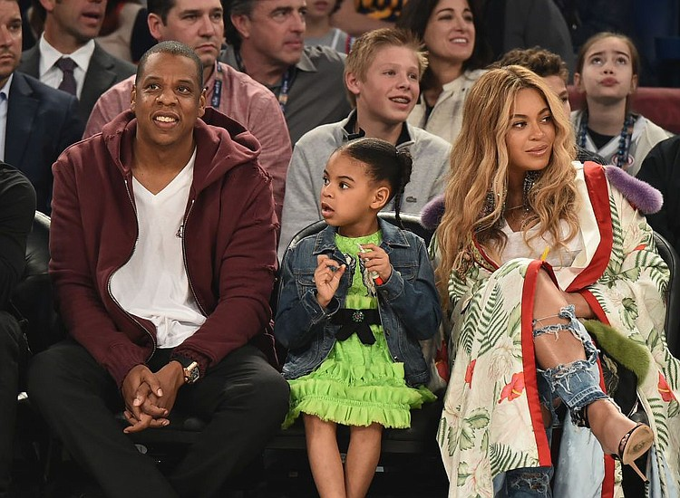 Blue ivy channels beyonc at nba all star game houston style beyonc and jay zs five year old daughter blue ivy carter appears to malvernweather Image collections