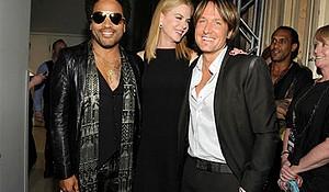 Actress Nicole Kidman and musician Lenny Kravitz.