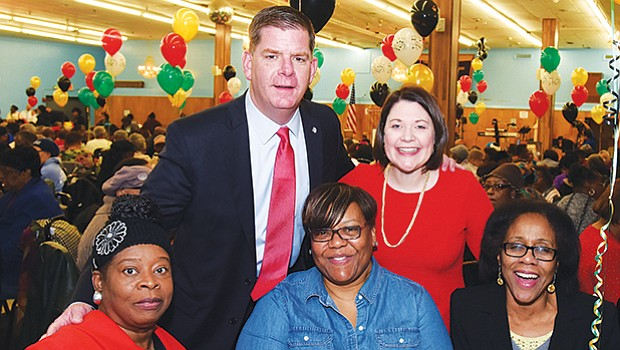The City of Boston and Mayor Martin Walsh host a Senior Black History Month Celebration at Prince Hall in Dorchester.