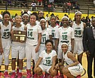 The White Station Lady Spartans took home the 16AAA Championship with a 58-35 win over the Whitehaven Lady Tigers Tuesday night. (Photo: Terry Davis)