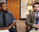 "Ice Cube (left) and Charlie Day star in the Warner Brothers Pictures film ""Fist Fight."""