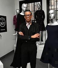 B Michael in his NYC showroom presenting fall 2017