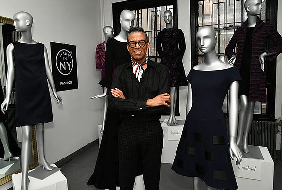 After viewing the big New York Fashion Week shows all over town, it was nice to visit B Michael's atelier ...