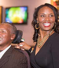 O.J. and Chanda Brigance recently visited the NIH to tour the Laboratory of Neurogenetics.