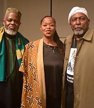 Imam Talib Abdur Rashid, Malaak Shabazz and Professor James Smalls