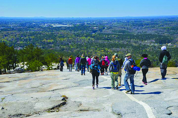 Hikers can climb to the summit of three local monadnocks – Arabia Mountain, Panola Mountain and Stone Mountain – in ...