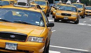 Yellow Taxis in NYC.