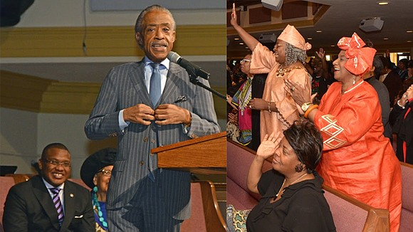 The Rev. Al Sharpton delivered a Memphis version of a sermon constructed for Black History Month during his appearance at ...