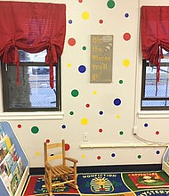 Members of the Arundel Bay Area Chapter of Jack & Jill of America partnered with local organizations to install a reading room in the child care center at Sarah's House, a supportive housing program offering emergency and transitional housing for homeless families in Anne Arundel County.
