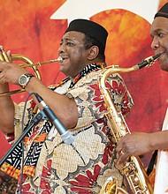 Let the horns blow. (Photo: Karanja A. Ajanaku)