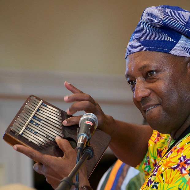 Ekpe Abioto plays the kalimba, which was one of Maurice White's favorite traditional African instruments. (Photo: Karanja A. Ajanaku)