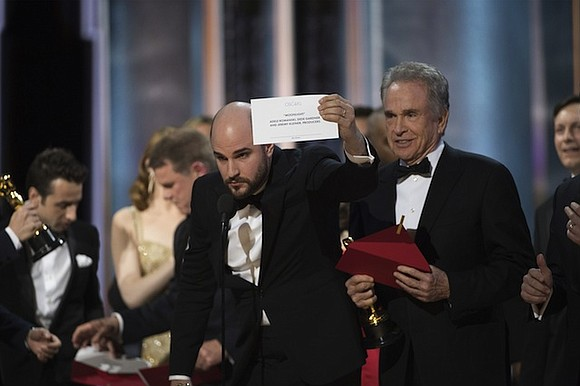 """It's an Oscar moment that will go down in history. Not only did """"Moonlight"""" pull out a surprise win over ..."""