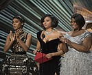 Janelle Monae, Taraji P. Henson and Octavia Spencer at the 89th Academy Awards.