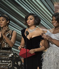 Janelle Monae, Taraji P. Henson and Octavia Spencer at the 89th Academy Awards.