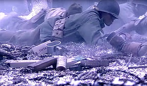 Scenes from The Wereth Eleven, a film that tells the story of 11 African American soldiers massacred during WWII
