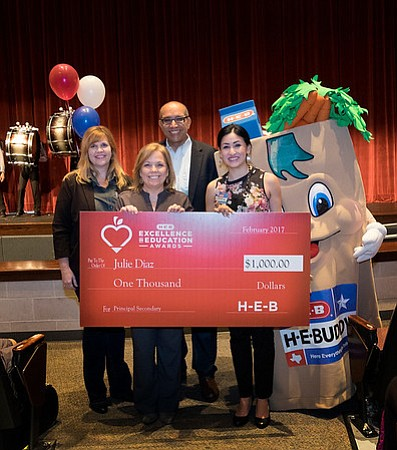 Julie Diaz from Travis High School in Fort Bend ISD is a finalist for the 2017 H-E-B Excellence in Education Awards. (Photo by Laura Skelding)