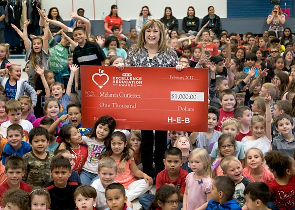 Melania Gutierrez from Stephen F Austin STEM Academy in Brazosport ISD is a finalist for the 2017 H-E-B Excellence in Education Awards. (Photo by Laura Skelding)