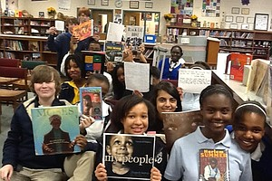 African-American Read-In at Burney-Harris-Lyons Middle School in Athens, Georgia.