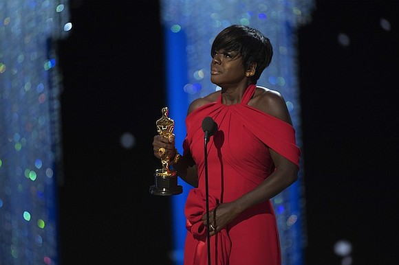 "Viola Davis's award season hot streak just ended with a bang. The ""Fences"" star picked up the award for best ..."
