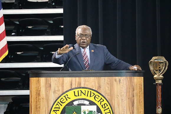 U.S. Rep James E. Clyburn, D-S.C. delivered the Black History Month convocation address at Xavier University's Convocation Center on Tuesday, ...