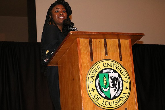 The originator of the phrase 'Black Women Are For Grown Ups' Stevona Elem Rogers wrapped up a three-speaker series of ...