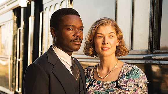 "Oyelow's latest role is an African king who falls for a British commoner in ""A United Kingdom."""