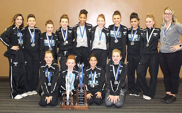 The Troy Dance Team, of Troy Community School District 30-C, finished 1st place in the IDTA State Competition in the ...
