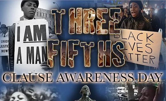 "On Sunday, March 5, ""Three-fifths Clause Awareness Day"" is being observed for the first time in the city. A special ..."