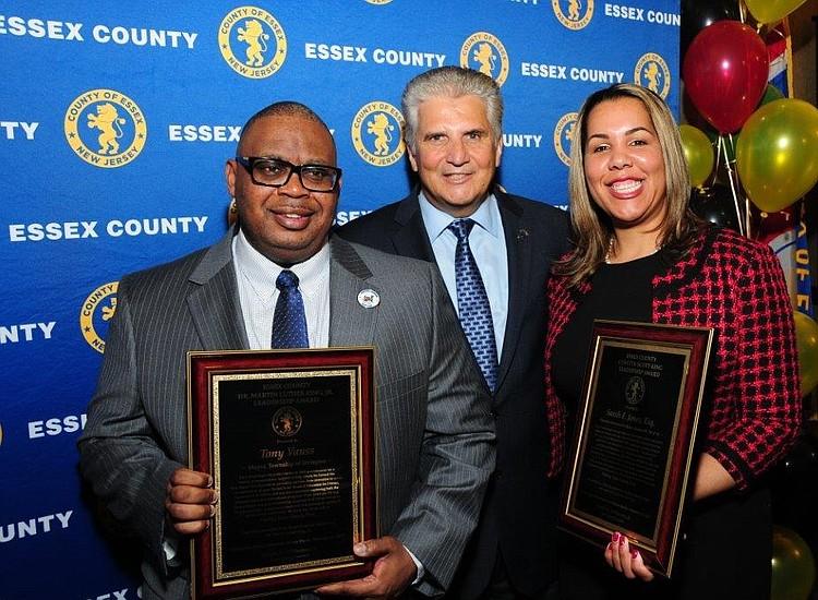 Irvington Mayor Tony Vauss and Horizon Blue Cross Blue Shield exec