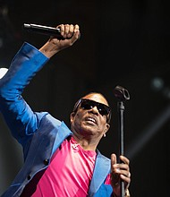 Charlie Wilson performing  Thursday March 2, 2017 at the Royal Farms Arena in Baltimore, Maryland.