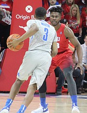 """You take it as motivation,"" said Jeremiah Martin, pictured driving to the basket against SMU. ""We are never going to get down on ourselves. It is a new season. You got to be ready to play every game going into postseason play. We had a couple of bad losses, but overall, we had a good season."""