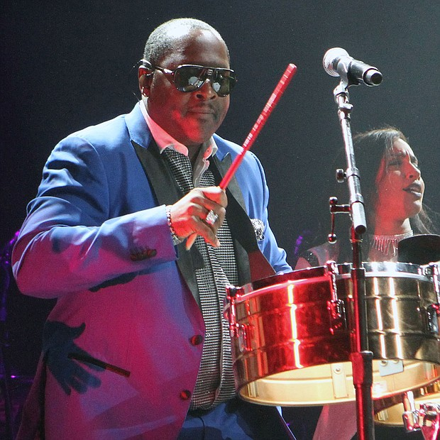 Johnny Gill takes to the drum. (Photo: Warren Roseborough)